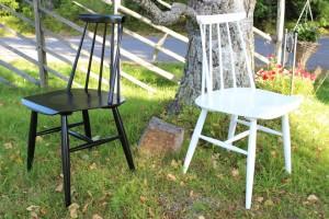 Fanett-tuolit entisöinnin jälkeen